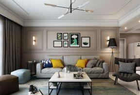 現代客廳沙發背景墻 2018歐式現代客廳沙發圖片