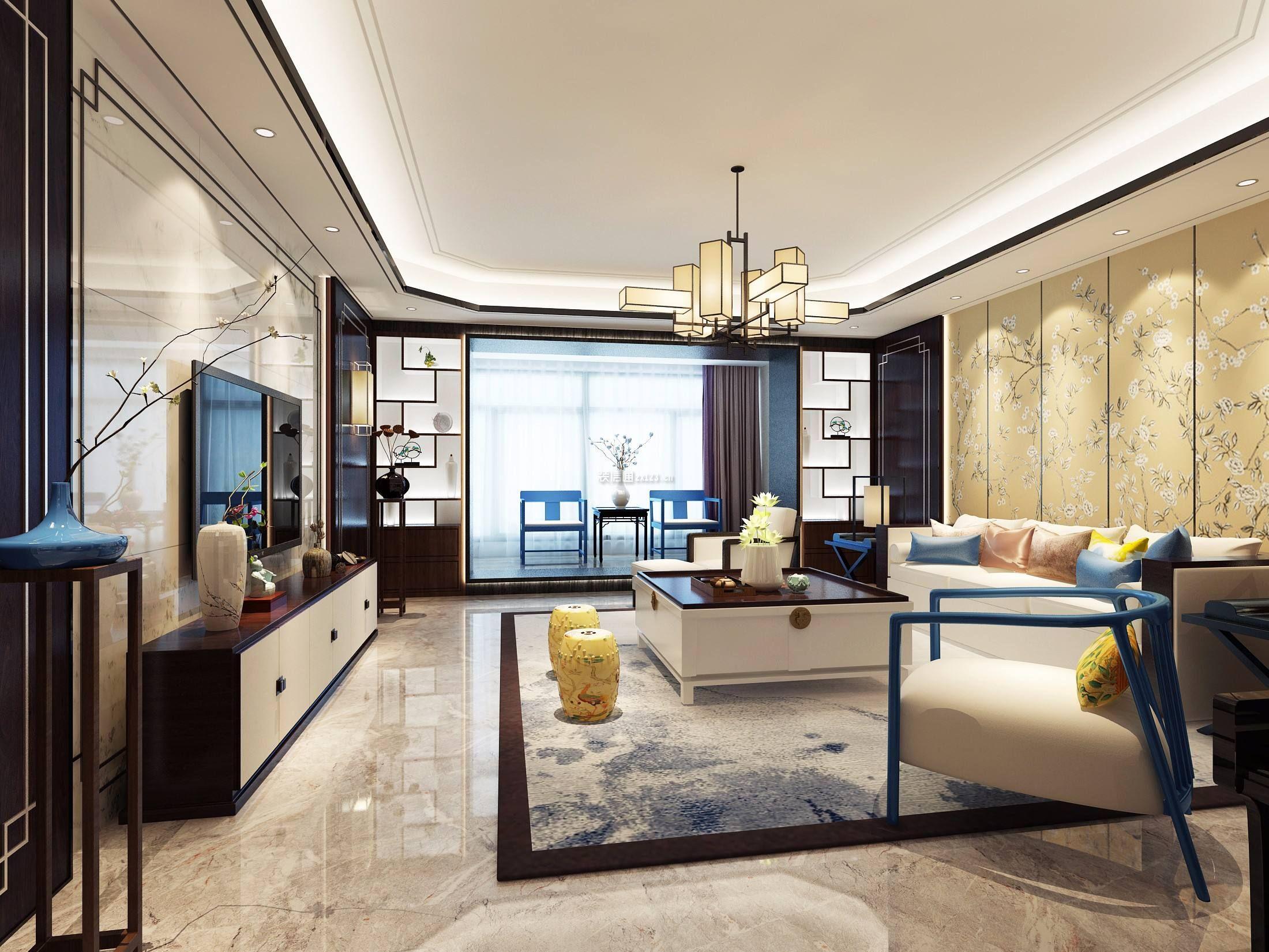 家装效果图 中式 2018新中式风格客厅背景墙装修效果图 提供者:   ←图片
