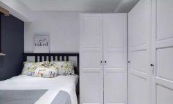 2018臥室白色衣柜設計圖片
