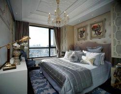 新古典臥室背景墻裝飾畫圖片