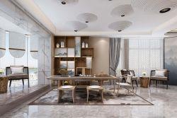 新中式風格別墅茶室裝修設計效果圖