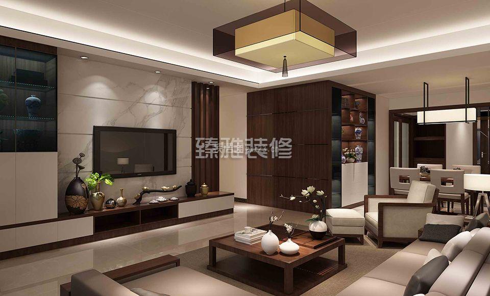 新中式客厅装修设计图 2018新中式客厅装修设计