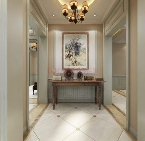 2020简美式别墅走廊地砖装修效果图片-每日推荐