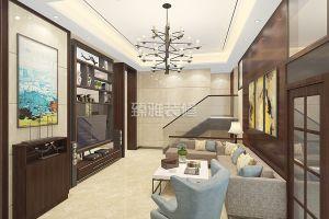 骏景峰天誉庭187平米中式风格复式装修案例