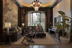 华茵桂语110平米现代中式装修效果图