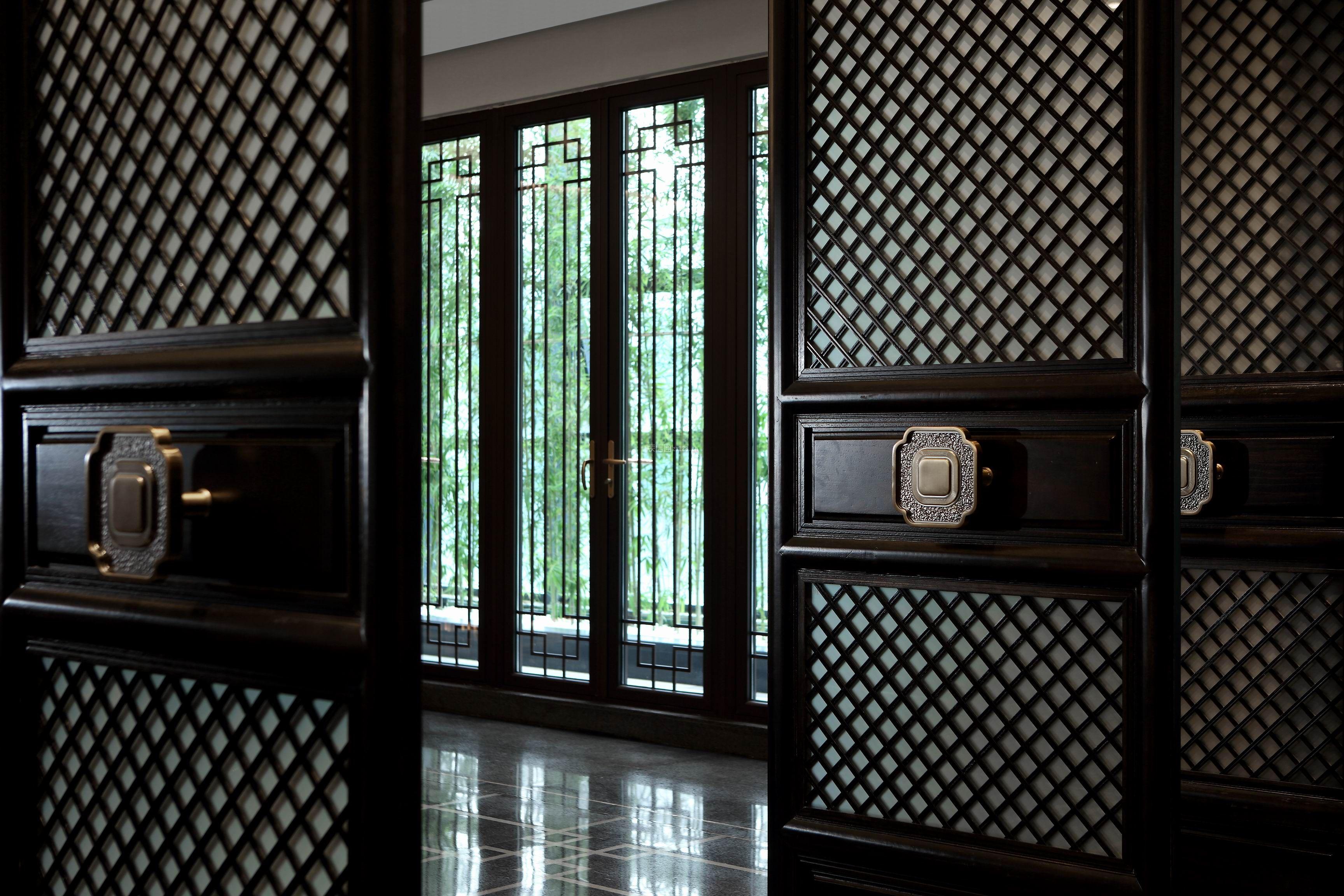 新中式信息休闲所室内风格设计图片重庆装修设计招聘门窗图片
