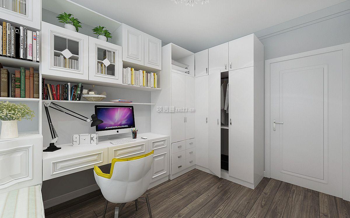 2018现代简约二居次卧书房设计效果图_装修123效果图