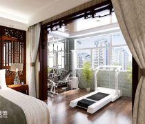 宝石花园140平米三居室新中式风格阳台装修效果图