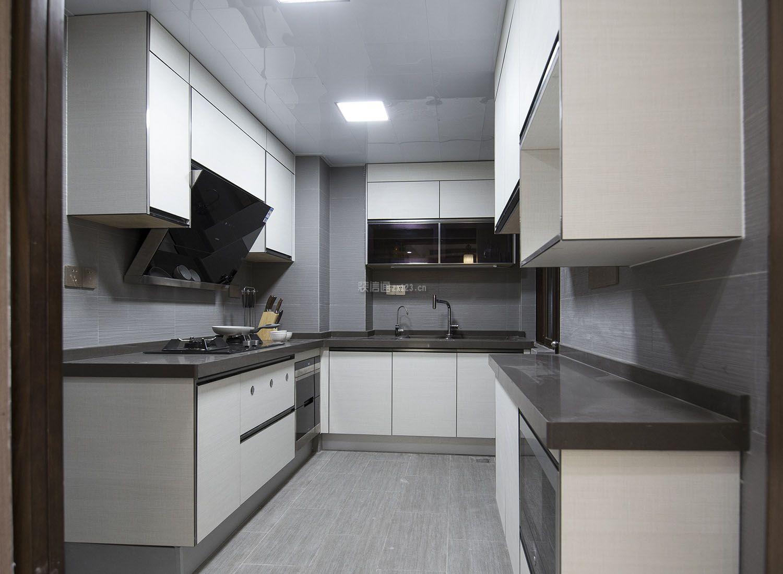 个性家装样板房厨房橱柜效果图_装修123效果图