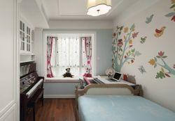 簡約兒童房臥室壁紙墻面裝修