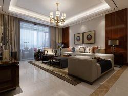 新中式風格客廳整體布置效果圖