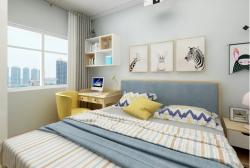 現代北歐120平米三居廚臥室背景墻裝修效果圖