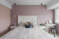 現代簡約風格120平米三居臥室背景墻裝修設計圖片
