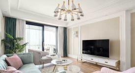130平米現代美式豪宅,2018太原裝修公司最新裝修案例