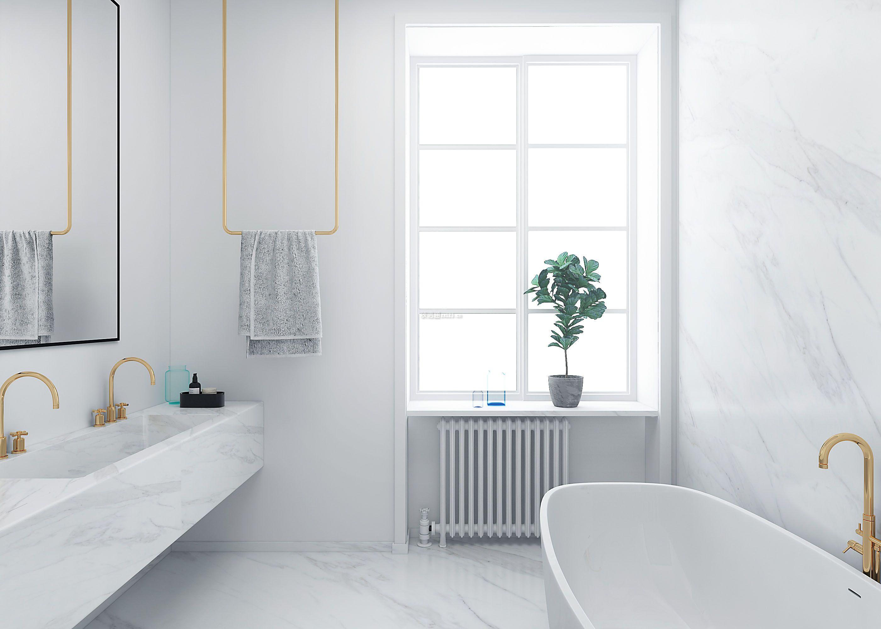 2018北欧风格123平米三居卫浴间背景墙装修图片图片