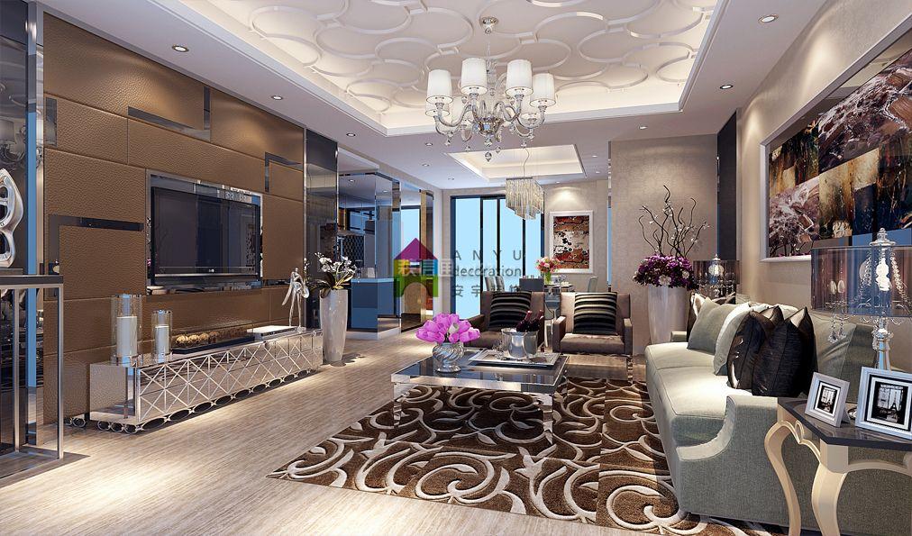 江门天鹅湾欧式风格120平米设计方案 江门安宇装饰