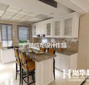 欧式风格200平米复式厨房装修效果图图片