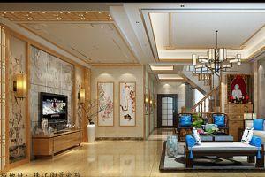 珠江御景豪苑260平米现代中式装修案例