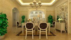 中建芙蓉嘉苑115平米三居室歐式風格餐廳裝修效果圖