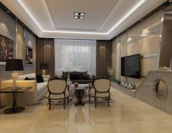現代風格188平米四居客廳窗簾搭配裝修效果圖