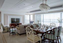 房屋客餐廳一體吊頂裝飾設計圖片
