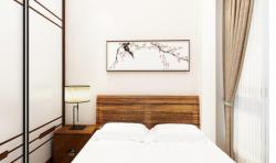 新景豪庭100平米中式風格臥室裝修案例