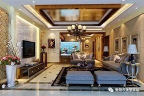 簡歐式客廳電視墻效果圖 簡歐式客廳裝修圖片