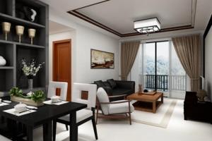 新景豪庭100平米中式风格装修案例