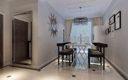 現代風格126平米三居室餐廳裝修效果圖