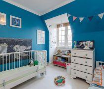 蓝色儿童房布置图片赏析