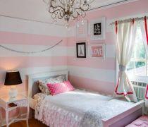 小户型粉色儿童房布置图片