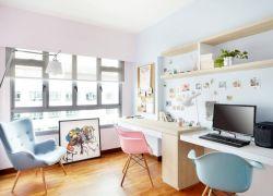 兒童房書房電腦桌布置圖片
