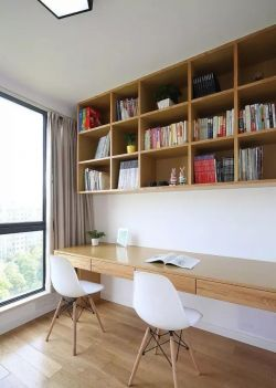 北歐簡約風格120平米三居書房設計圖片