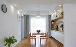 北歐簡約風格120平米三居餐廳餐桌設計圖片