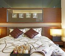海亮兰郡中式120平三居室卧室装修案例