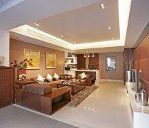 海亮兰郡中式120平三居室客厅装修案例