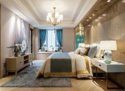 新中式120平三居臥室飄窗設計圖
