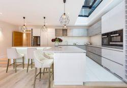 敞開式廚房U型設計裝修實景圖2018