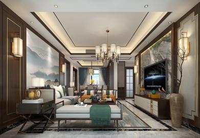 江门方直珑湖湾中式163平米设计案例