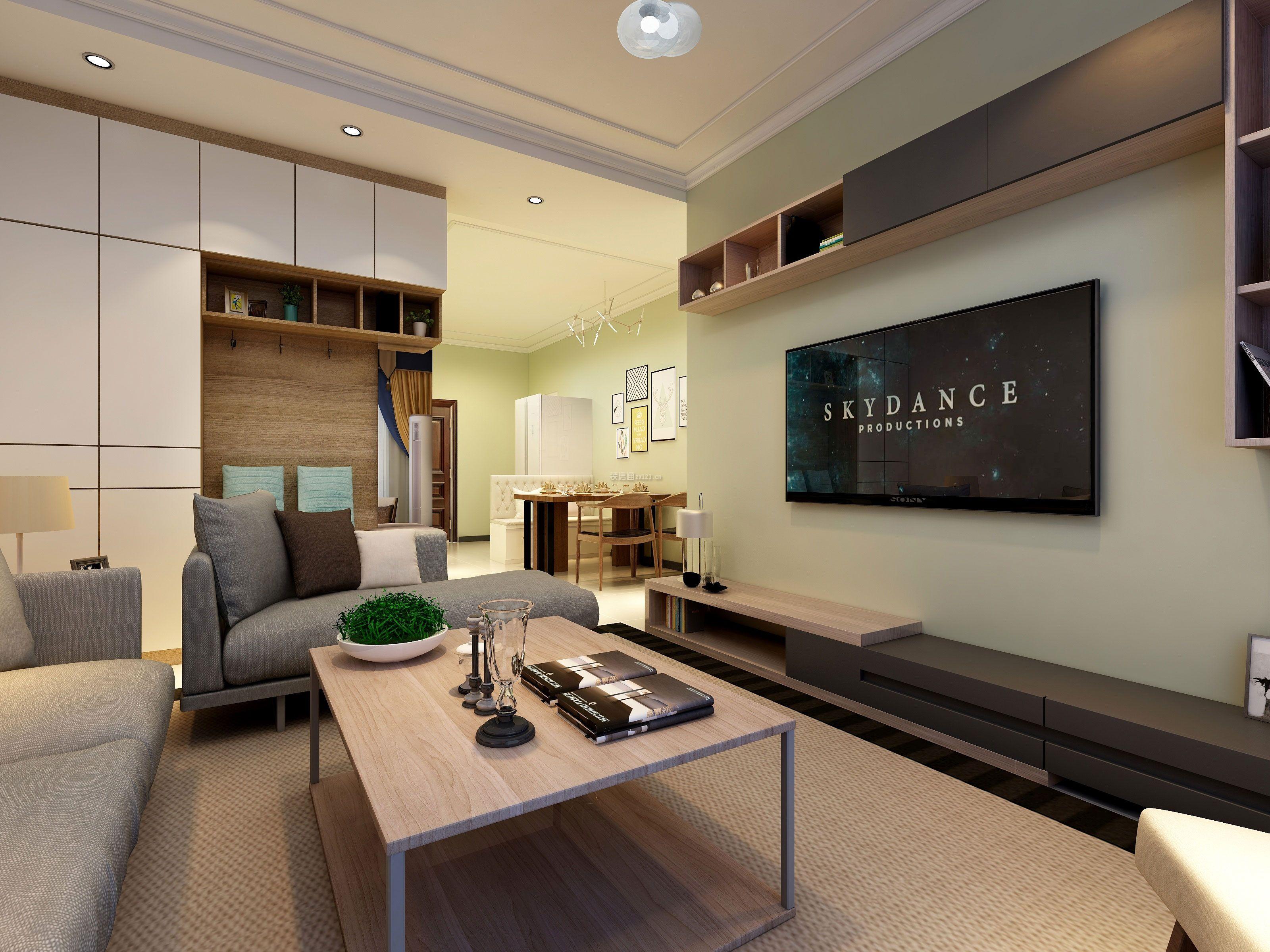 简单电视墙装修图片-电视墙装修效果图大全现代简约型