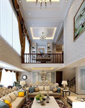 挑高客廳裝修效果圖 歐式挑高客廳裝修效果圖