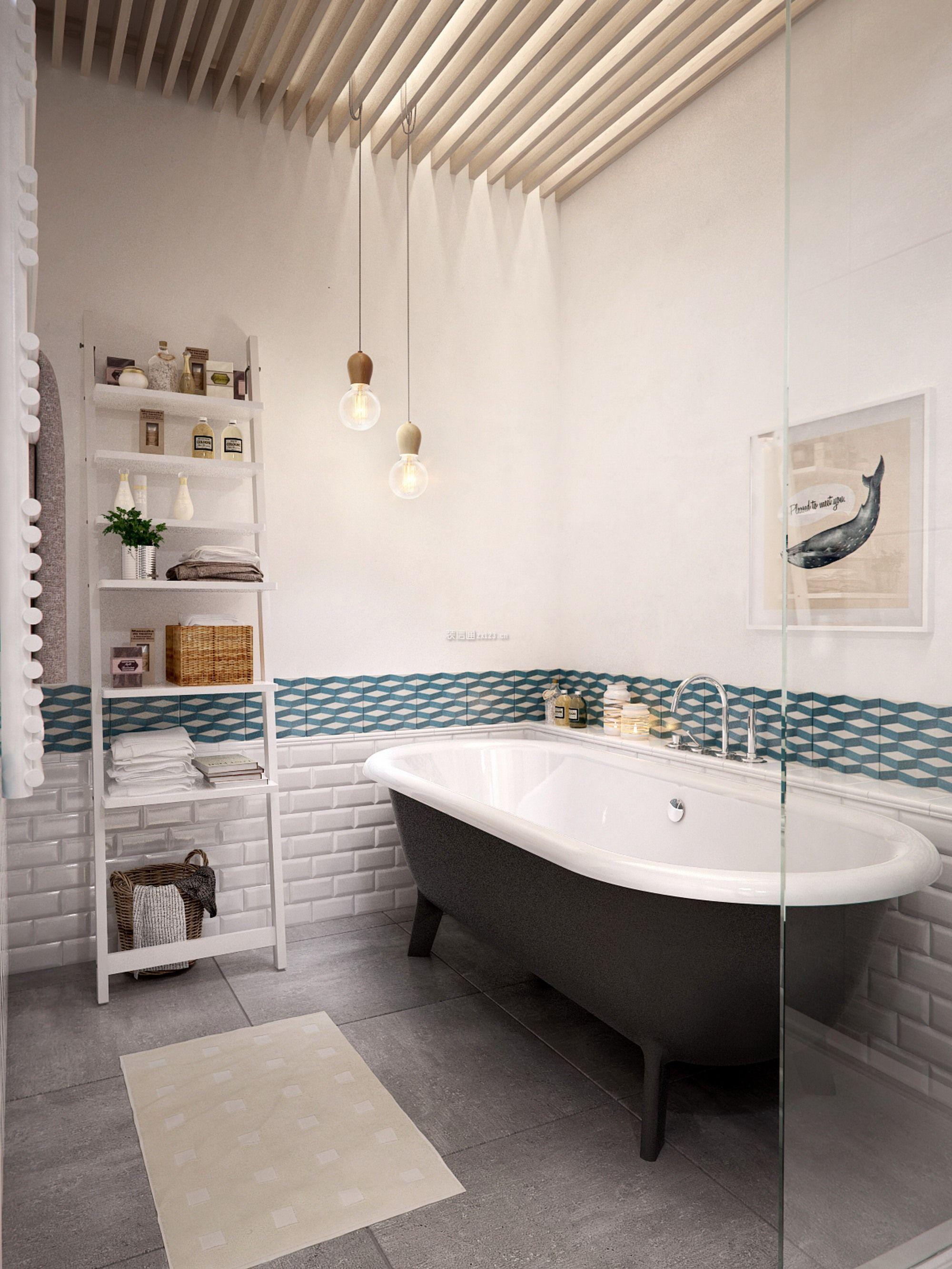 128平米北欧风格三居室卫浴间装修效果图片图片