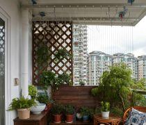 简美式133平米三居阳台花园装修图片