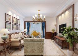 歐式風格大房子客廳吊頂設計圖片