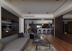 現代時尚風格大房子客廳設計圖片