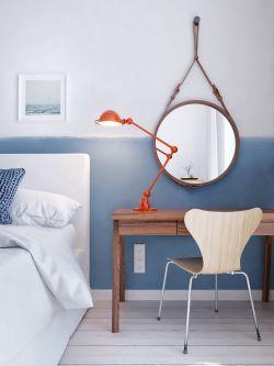 128平米北歐風格三居室臥室梳妝臺裝修效果圖片