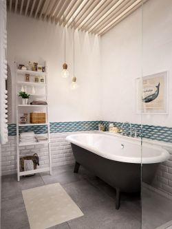 128平米北歐風格三居室衛浴間裝修效果圖片