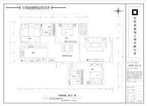 新中式風格室內平面圖 套房平面圖