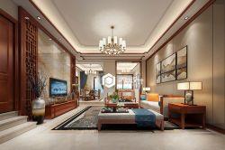 中式風格客廳整體布置裝修效果圖