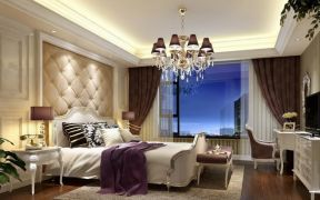 2018華麗歐式臥室地板磚效果圖 2018大戶型簡潔歐式臥室效果圖